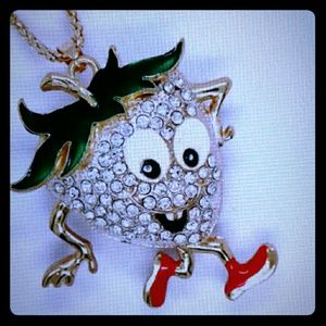 Running Strawberry Necklace